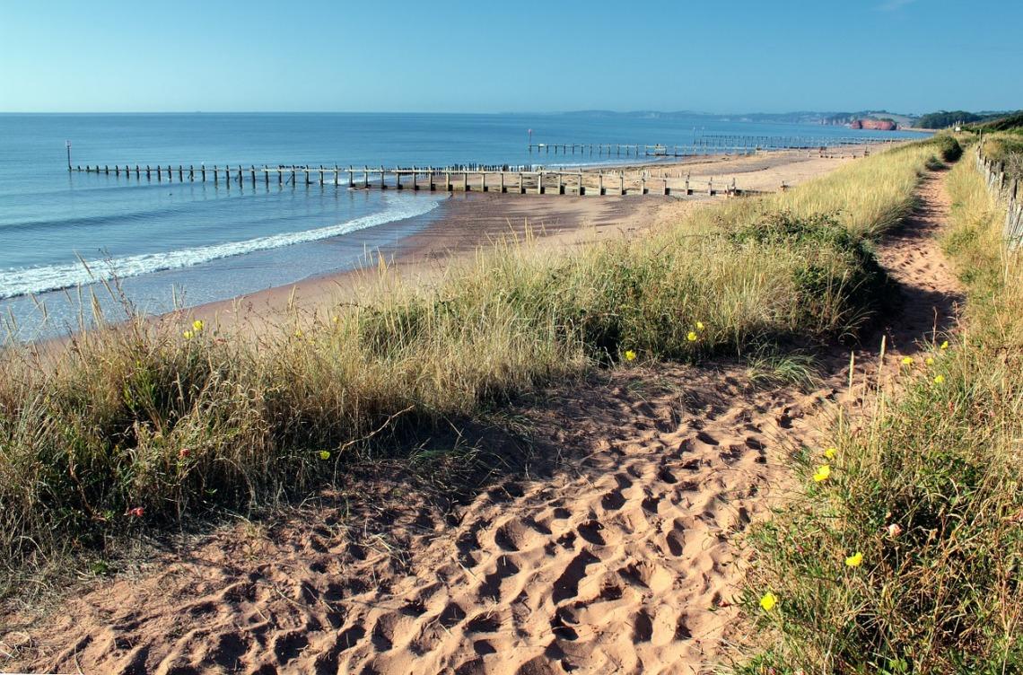 View Devon coast